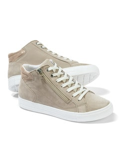 City HighTop Sneaker Beige Detail 1