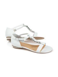 Sandalette Schmuckriemchen Weiß Detail 1
