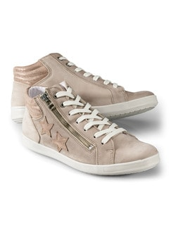 Hightop-Sneaker Sternenstunde Beige Detail 1