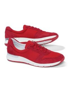 Materialmix-Sneaker Rot Detail 1