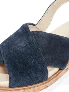 Kreuzriemen-Sandale Marine Detail 4
