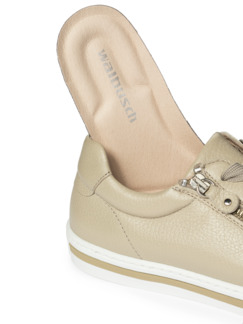 Hirschleder-City Sneaker Creme Detail 3