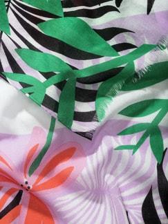 Schaltuch Costa Rica Schwarz-Bunt Detail 3
