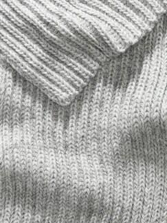 Strickschal grau melange Detail 3