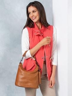 Lederhandtasche Standfest Zimt Detail 2