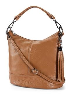 Lederhandtasche Standfest Zimt Detail 1