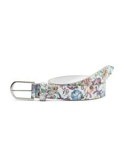 Ledergürtel Blütendruck Multicolor Detail 1