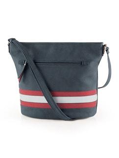 Umhängetasche Tricolore Marine/Rot/Weiß Detail 1
