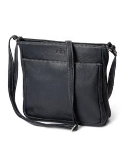 Leder-Handtasche Marine Detail 1