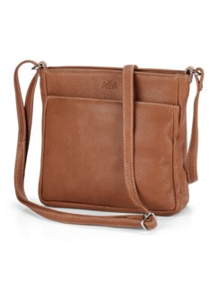 Leder-Handtasche Zimt Detail 1