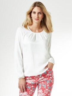 Viskose-Shirtbluse Weiß Detail 1