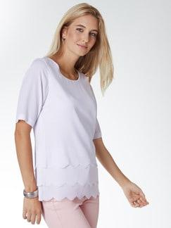 Layering-Shirtbluse Weiß Lasercut Detail 1
