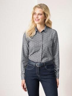 Bluse Kuschelflanell Minimal Grau Detail 1