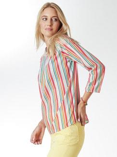 Shirtbluse Sommerleicht Gestreift Detail 1