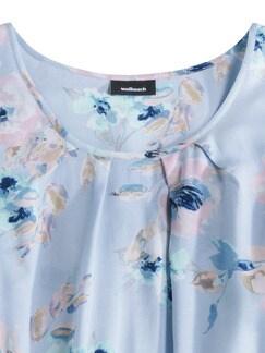 Shirtbluse Pastellblüten Blau geblümt Detail 3