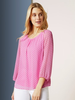 Shirtbluse 2-in- Plus Punkt Rose Detail 1
