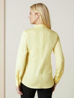 Extraglatt-Bluse Kelchkragen Gelb Detail 4