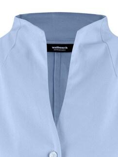 Extraglatt-Bluse Kelchkragen Blau Detail 3