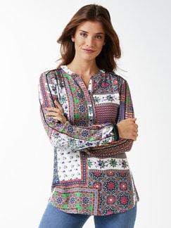Shirtbluse Foulard Print Multicolor Detail 1