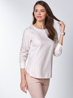 Extraglatt Pima Cotton Shirtbluse Rose Detail 1