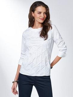 Shirtbluse Rosettenstickerei Weiß Detail 1
