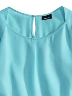 Tencel Shirtbluse Sommerfrische Aqua Detail 3