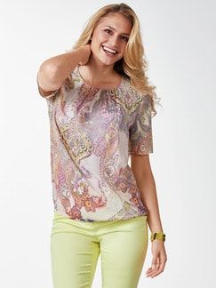 Shirtbluse Sommerpaisley Flamingo Detail 1