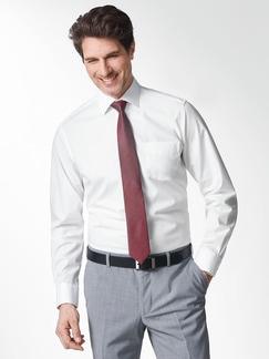 Extraglatt-Hemd Kent-Kragen Weiß Detail 2