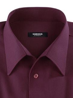 Extraglatt-Hemd Walbusch-Kragen Burgund Detail 4