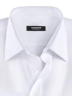 Extraglatt-Hemd Umschlagmanschette Weiß Detail 3