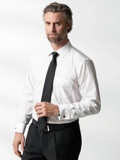 Extraglatt-Hemd Umschlagmanschette Weiß Detail 2