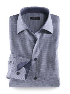 Extraglatt-Hemd Minimal Blau Detail 1