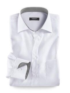 Extraglatt-Hemd Weiss Detail 1