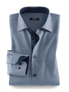 Extraglatt-Aktiv-Hemd Minimal Blau Detail 1