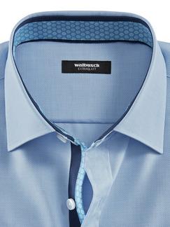 Extraglatt-Hemd Naturstretch Hellblau Detail 4