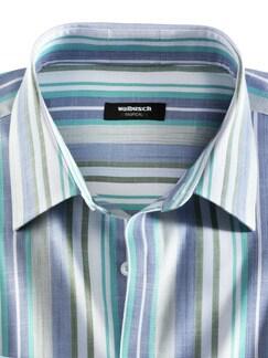 Tropical-Hemd Buena Vista Streifen Aqua Detail 3