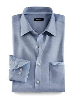 Extraglatt-Travel-Hemden Struktur Blau Detail 1
