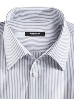 Extraglatt-Hemd Walbusch-Kragen Streifen Grau Detail 3