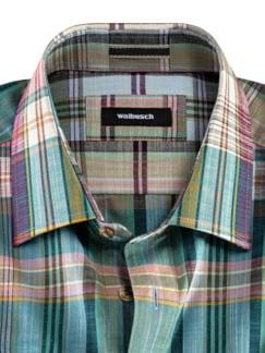 10-Taschen-Safarihemd Madraskaro Detail 3