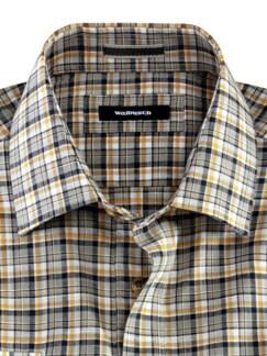10-Taschen-Safarihemd Karo Sand/Safr. Detail 3