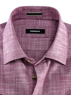 10-Taschen-Safarihemd Uni Beere Detail 3