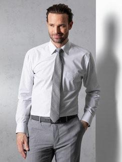 Extraglatt-Hemd Walbusch-Kragen Streifen Grau Detail 2
