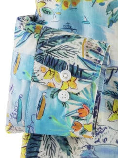 Liberty-Hemd Buena Vista Blau/Bunt Detail 4