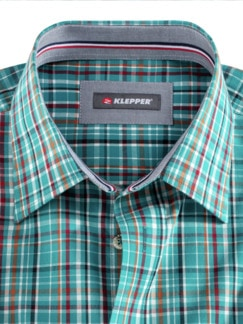 Klepper-Hemd Coolmax Petrol/Terra Detail 3