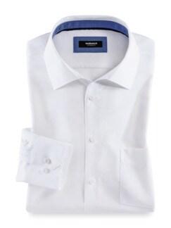 Extraglatt-Hemd Walbusch-Kragen Uni Weiss Detail 1