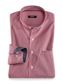 Extraglatt Shirt Hahnentritt Rot Detail 1