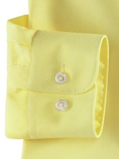 Extraglatt-Hemd Kent-Kragen Gelb Detail 4