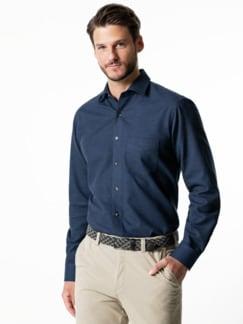 Softflanell-Hemd Uni Blau Detail 2