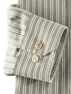 Wüsten-Hemd Streifen Khaki Detail 4