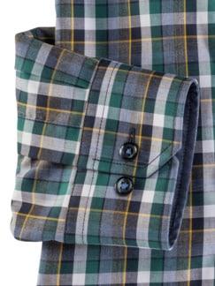 Extraglatt-Hemd Button Down Karo Petr. Blau Detail 4